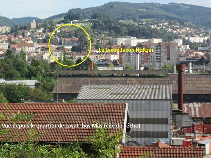Un aménagement choisi dans un territoire proche du lycée : la rénovation du quartier Layat/Bas-Mas (Firminy)