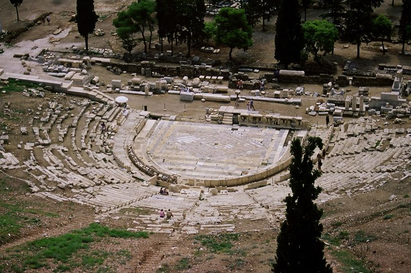 Théâtre de Dionysos à Athènes où étaient jouées les pièces d'Aristophane