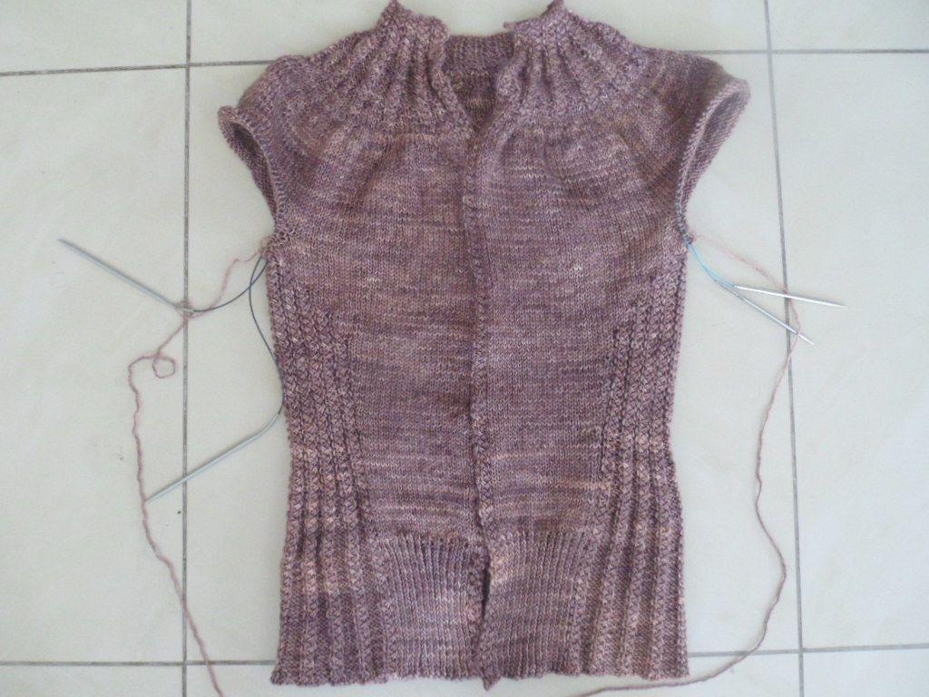 Tuto : tricoter les 2 manches en même temps en top down