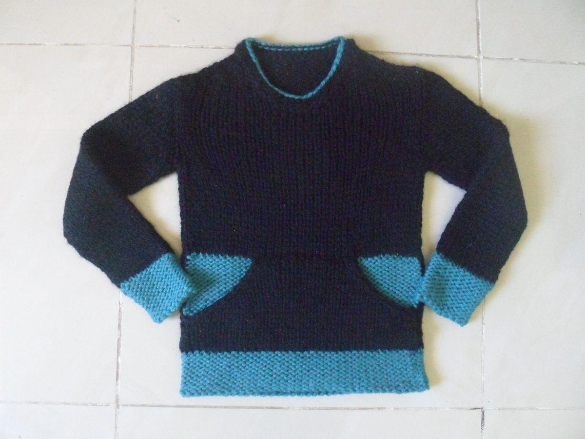 comment tricoter une poche kangourou