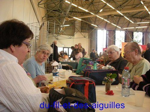 Notre petit groupe, de l'atelier d'Aillant sur Thollon!