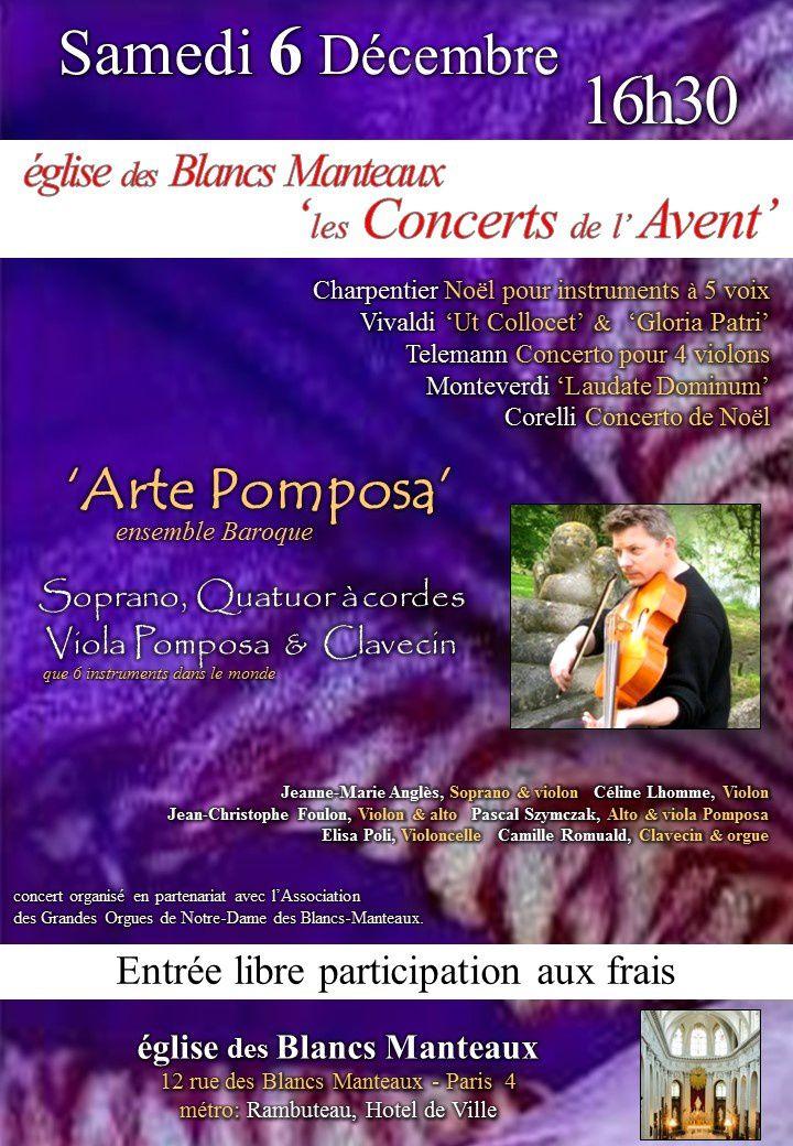 Concert aux Blancs Manteaux