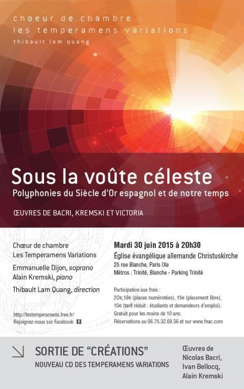 Concert à l'Eglise Evangélique Allemande