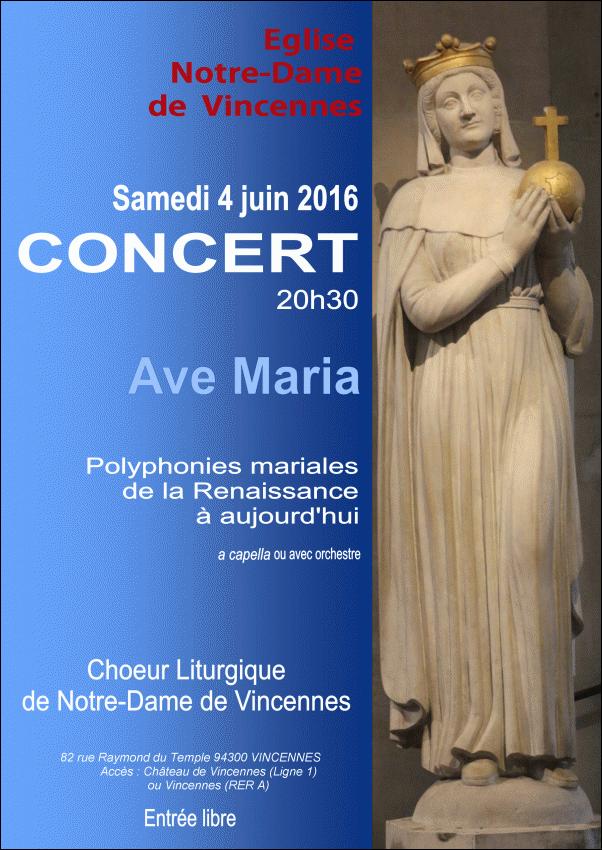 Concert en l'église Notre-Dame de Vincennes