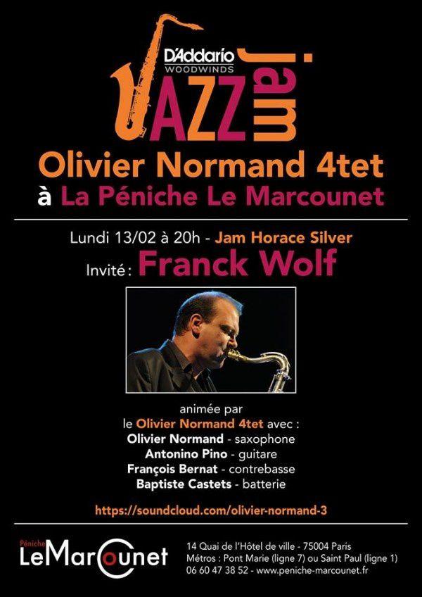 Jazz à la Péniche Le Marcounet