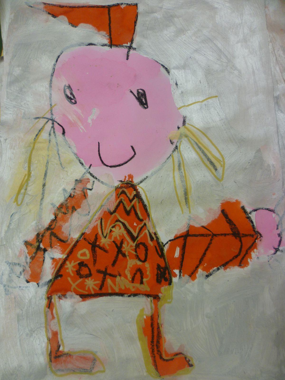 Fresques et compositions sur &quot&#x3B;Le petit chaperon rouge&quot&#x3B;