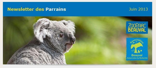 Newsletter des Parrains - Juin 2013
