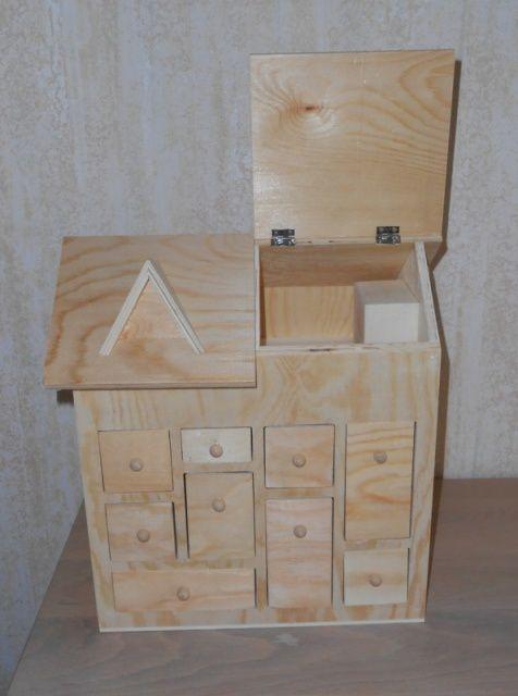 Calendrier de l'avent en bois