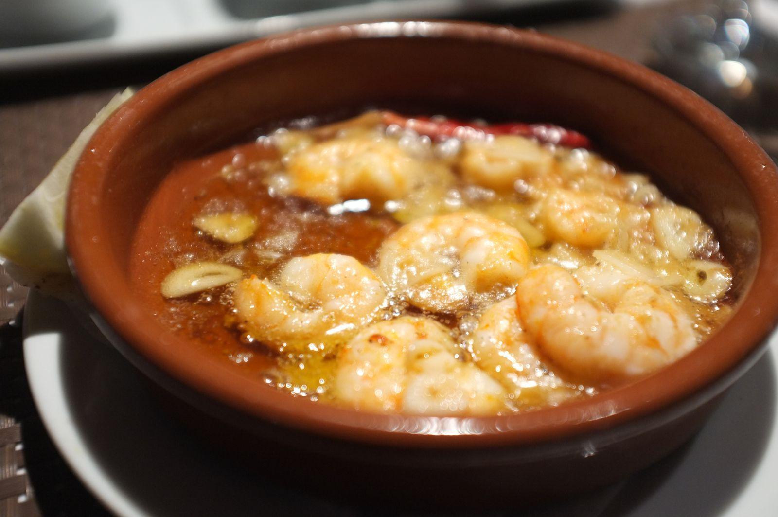 Crevettes à l'ail (90 dhs)