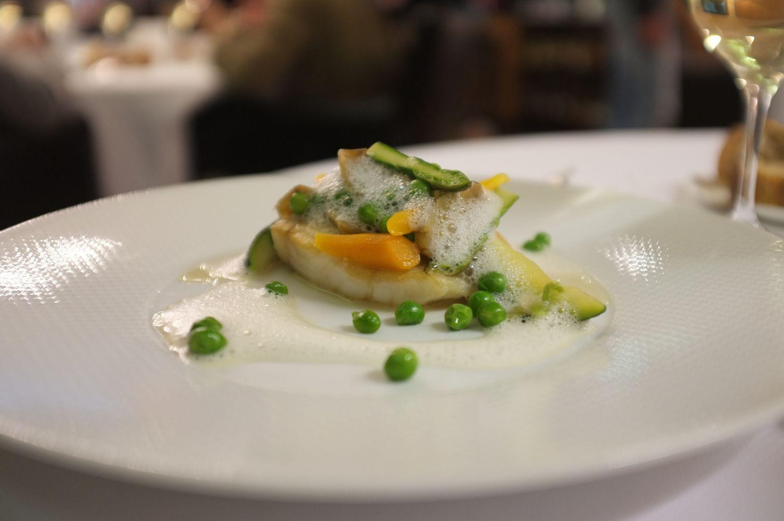 Lieu jaune - Citronnelle - légumes de Printemps (plat Menu St-Placide)