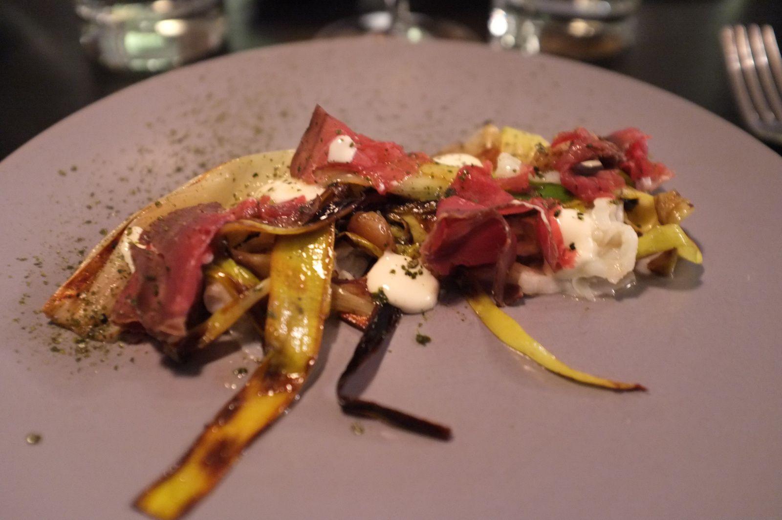 Squid/Leeks/Dried beef