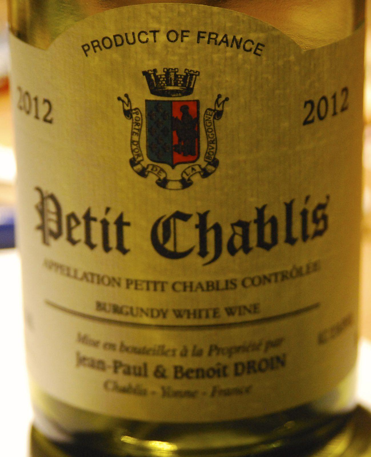 Petit Chablis 2012 - Domaine Droin