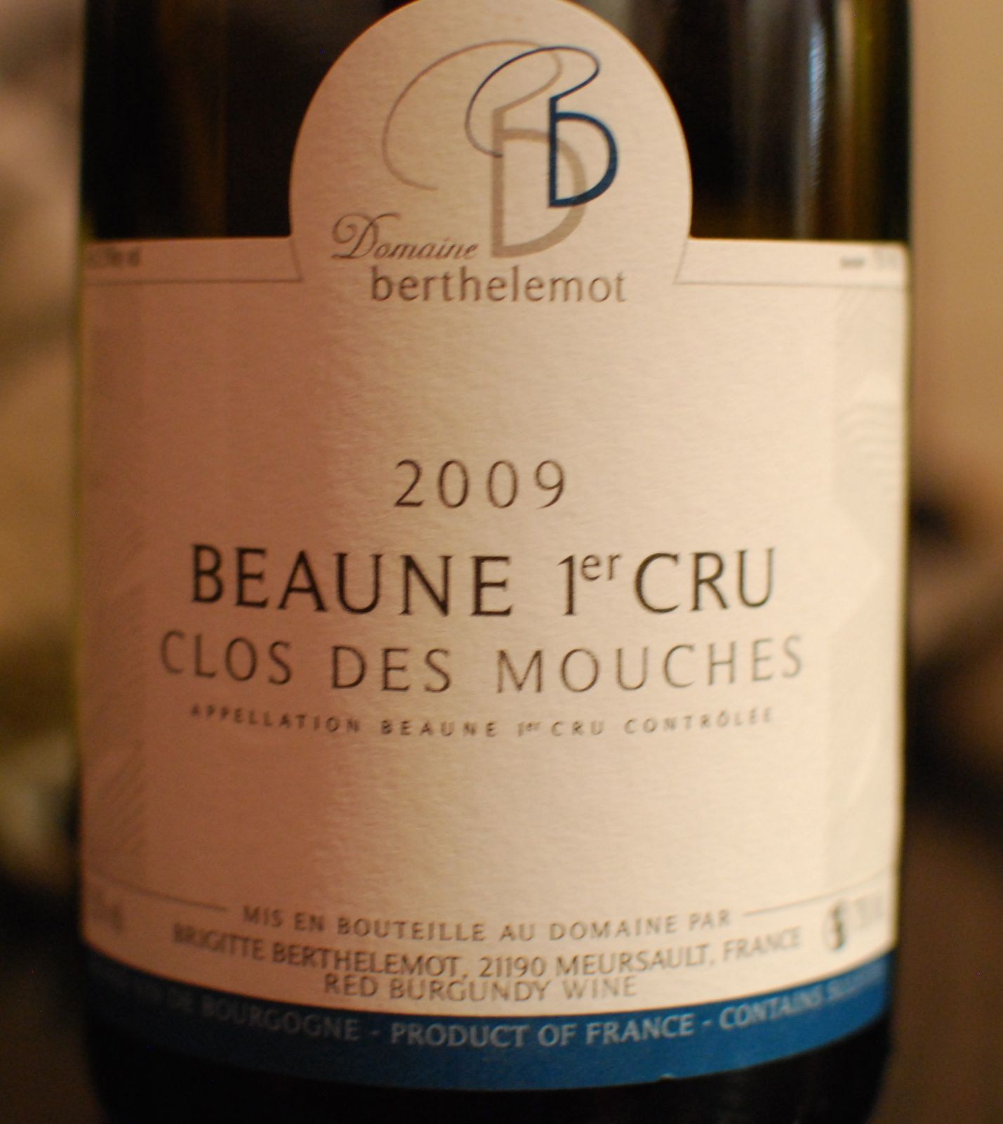 Beaune 1er Cru - Clos des Mouches 2009 - Brigitte Berthelemot