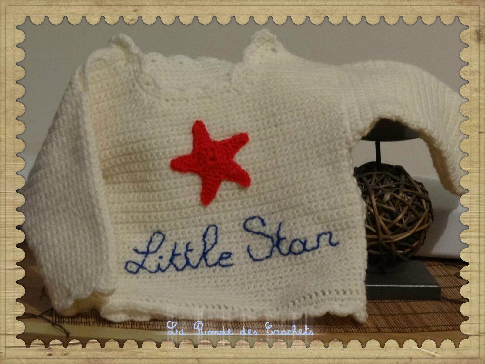 Un pull tout en simplicité pour petite fille sage !