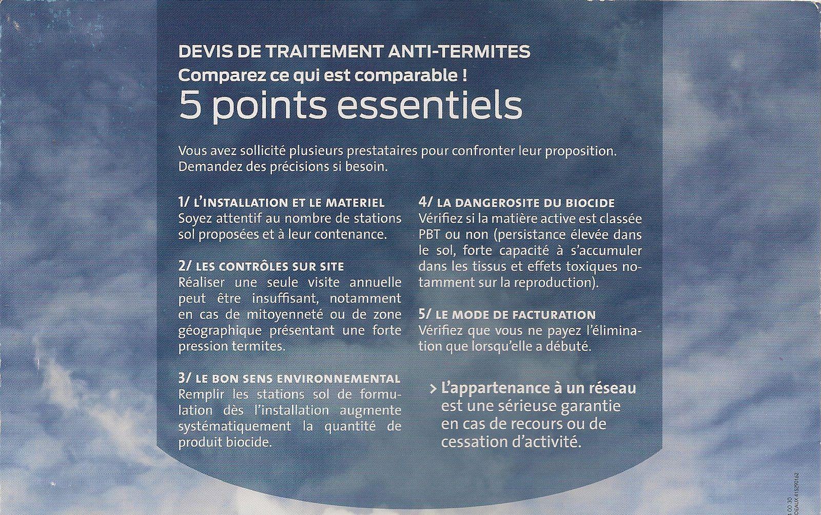Termites devis