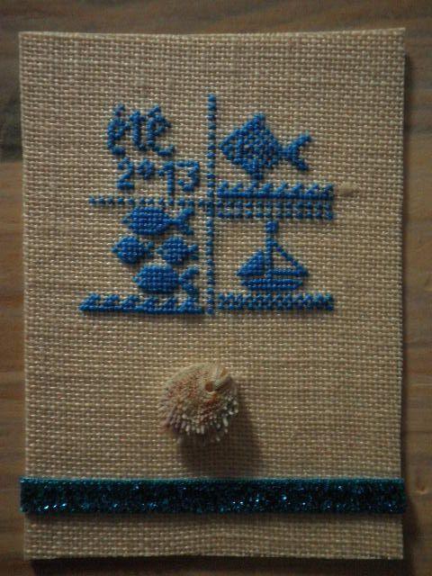 """La première est cette de Marie...  Le petit coquillage a été ramassé """"exprès"""" aux Saintes Marie de la Mer."""