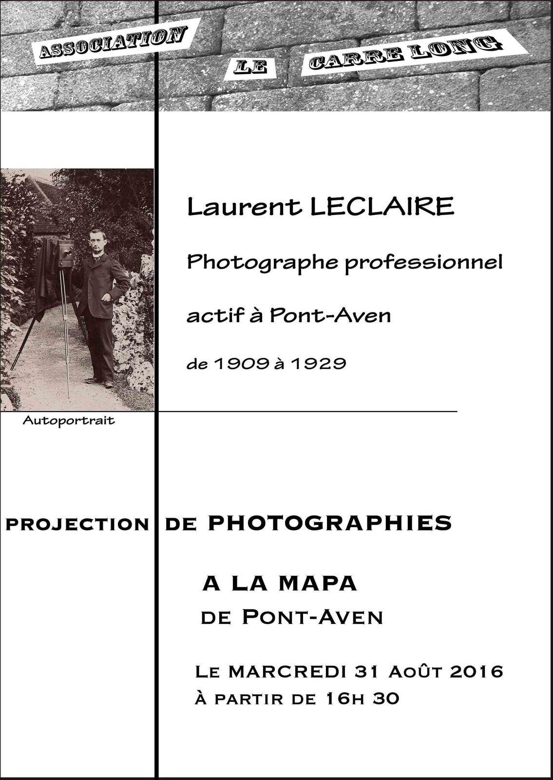 Annonce d'une nouvelle projection de photographies
