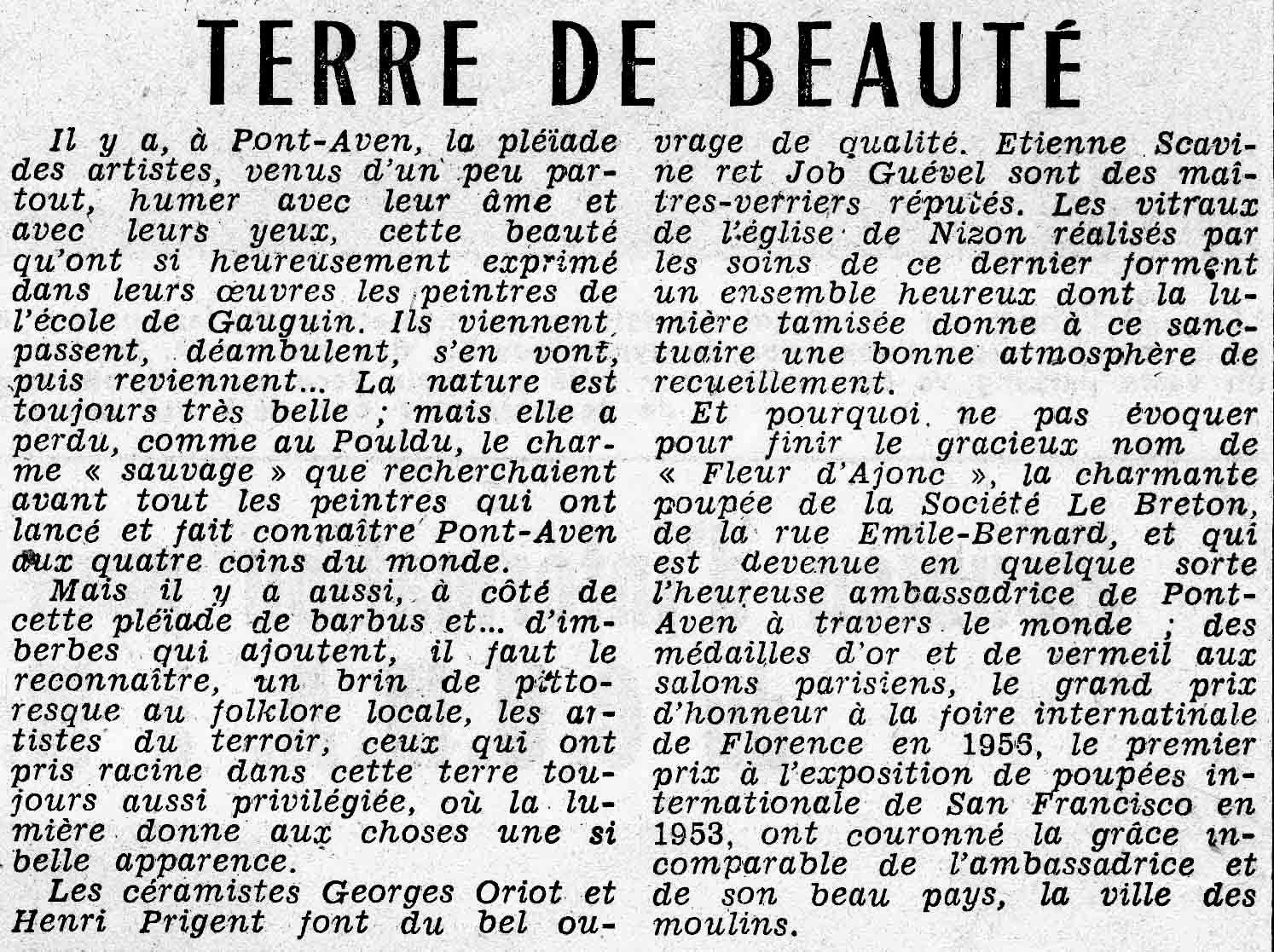 Terre de beauté : La presse de 1963