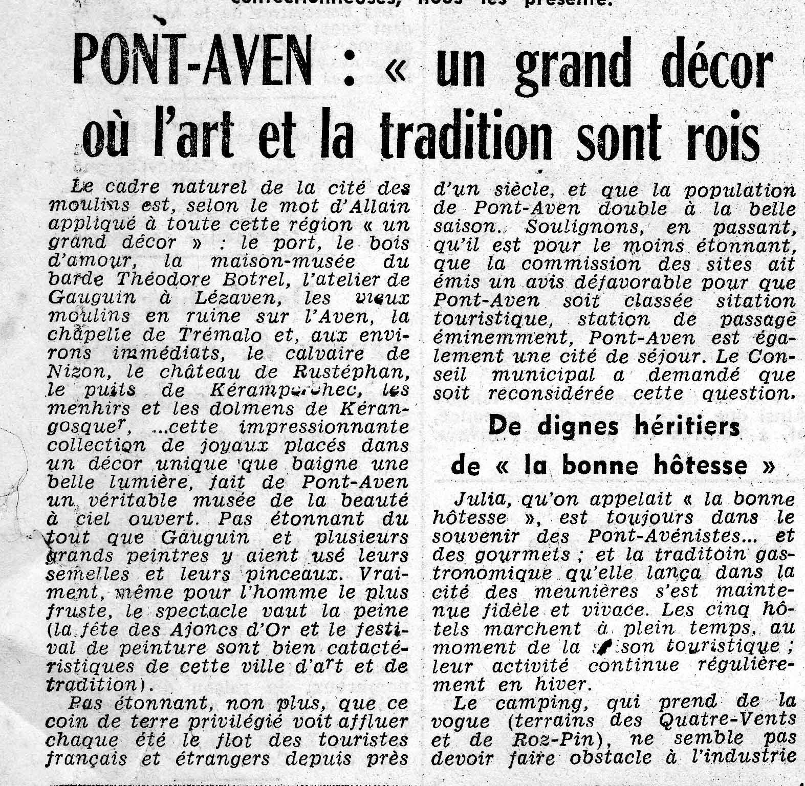 1963 : UN GRAND DECOR ... dont il ne reste plus aujourd'hui que des traces rouillées.