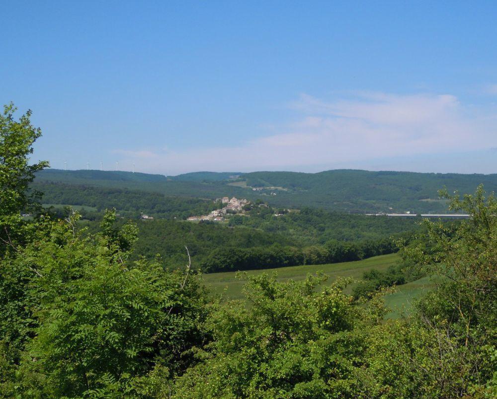 """Après Autichamp je redescends sur """"les cochons"""" au loin Roche sur Grane puis j'arrive à......"""