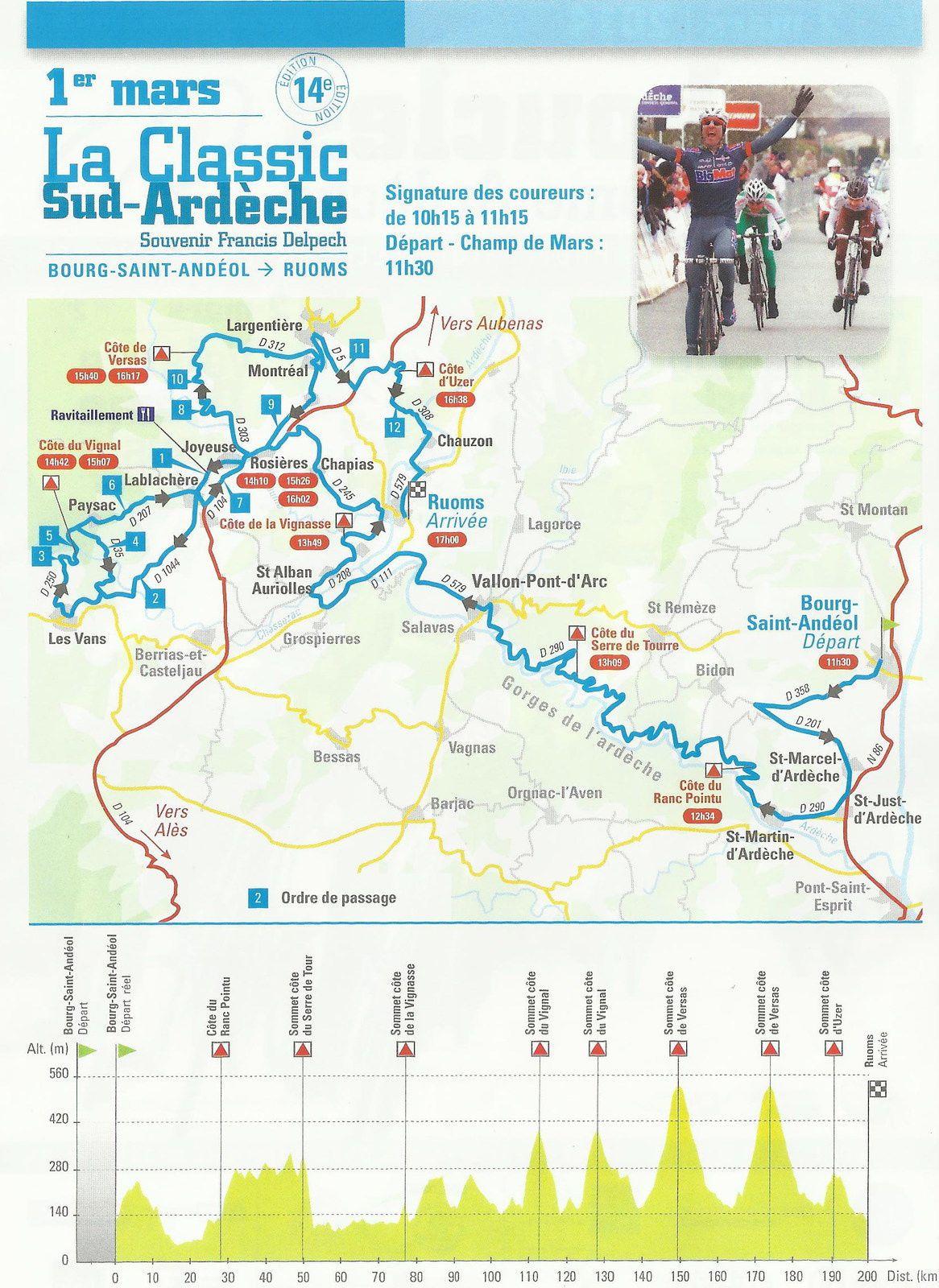 Pour suivre Les Boucles Drôme Ardèche 1&amp&#x3B;2 Mars 2014
