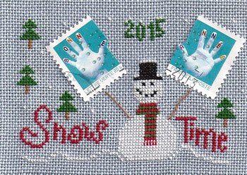 une de mes ATC timbrées &quot&#x3B;bonne année&quot&#x3B;