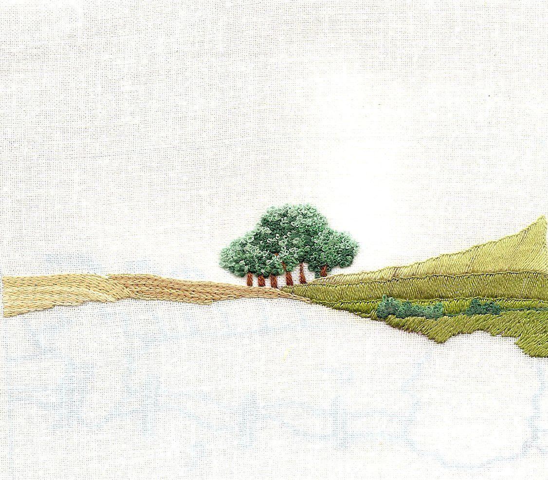 nature peinture à l'aiguille