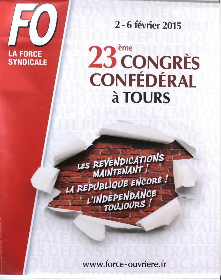 """Le congrès dénonce, rejette et combattra le projet de loi Macron"""" qui """"ne doit pas être voté"""", car """"il libéralise"""", """"flexibilise à outrance"""" tous les secteurs, estime le congrès de FO, et notamment """"vise à banaliser le travail dominical et de nuit"""