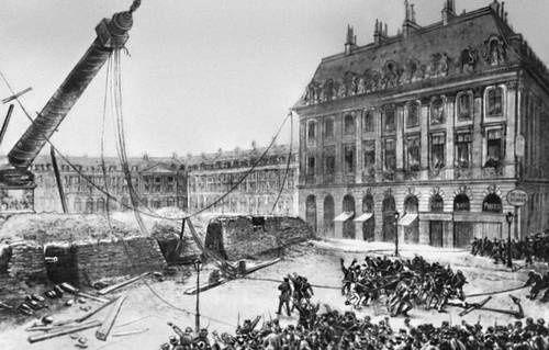 12 avril 1871:  démolition de la colonne Vendôme