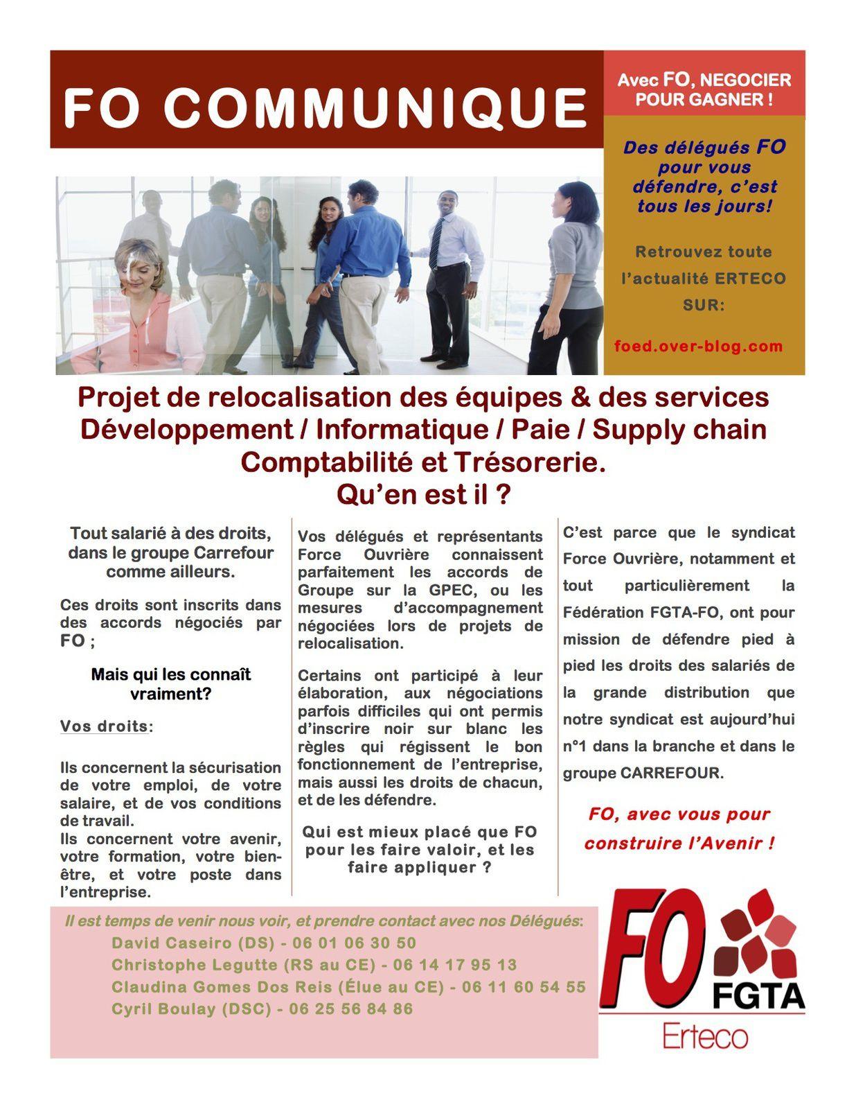 Tout salarié à des droits, dans le groupe Carrefour comme ailleurs. Ces droits sont inscrits dans des accords négociés par FO &#x3B;