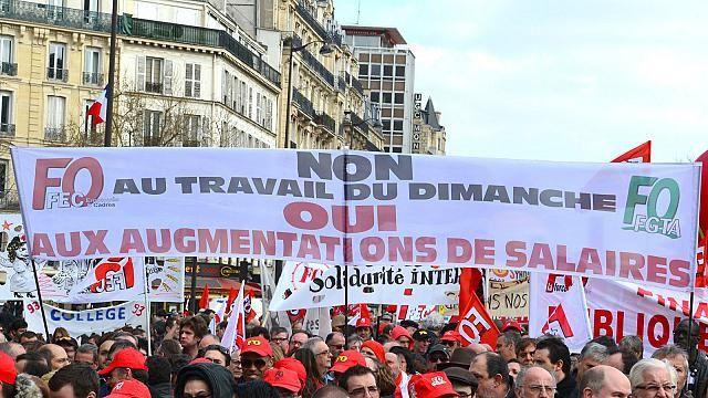 Force Ouvrière fortement mobilisée milite contre le travail du dimanche.