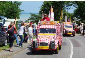 La gronde des agriculteurs a privé Cochonou et Carrefour de caravane du Tour de France