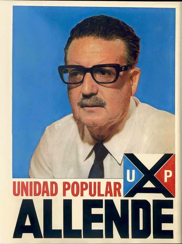 S. Allende, assassiné lors du coup d'état, avalisé par le vatican,  fomenté par la CIA et les grandes multinationales américaines
