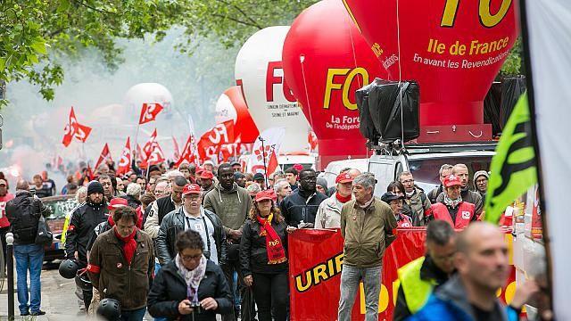 Manifestation contre la loi Travail du 19 mai 2016 à Paris. Photographie : F. Blanc / FO Hebdo - CC BY-NC 2.0 - flickr.com/force-ouvriere