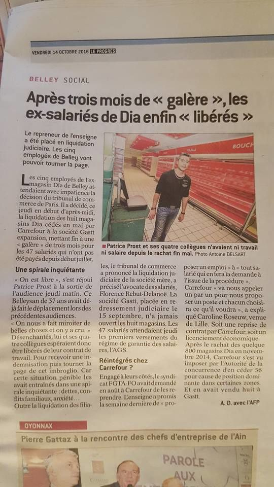 Le journal de Belley (ain) de ce matin, avec Patrice Post