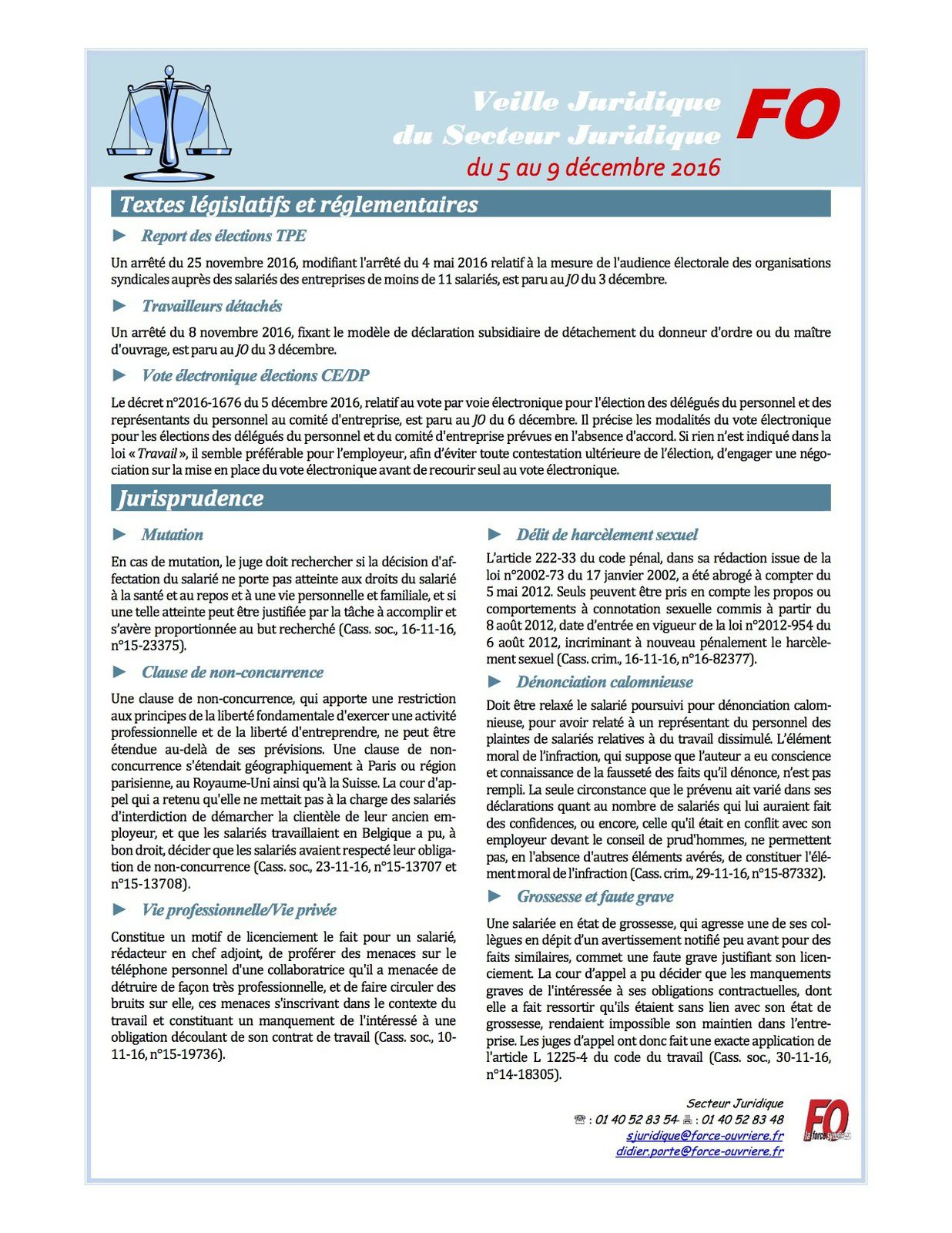 Veille Juridique du 5 au 9 décembre 2016 9 DÉCEMBRE PDF859.8 KO