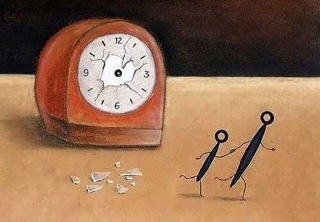 Les aiguilles du temps s'échappent , et nous échappent !