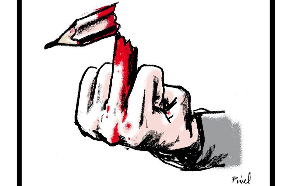 L'attentat au siège du journal satirique français Charlie Hebdo.