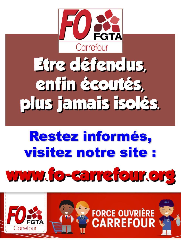 Carrefour ouverture du dimanche matin  : FO rendra son avis, après consultation, fin janvier