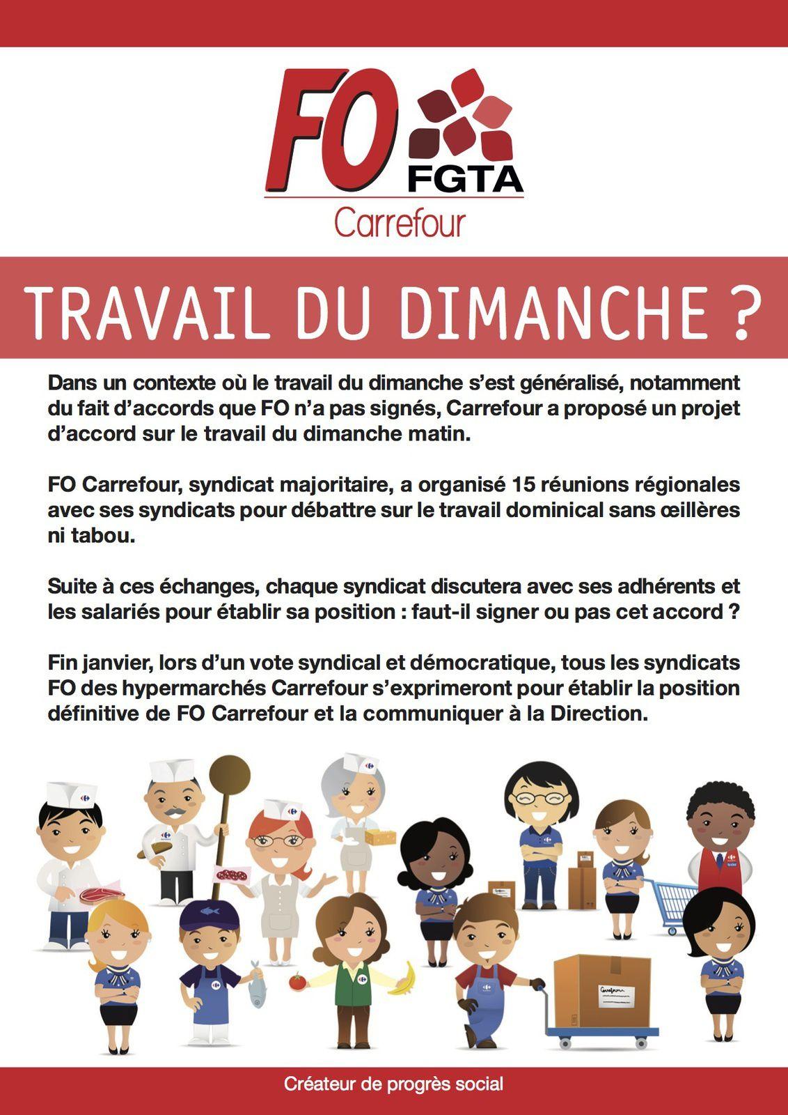 Accord ou pas sur l'ouverture du dimanche matin chez Carrefour : le syndicat rendra son avis, après consultation, fin janvier