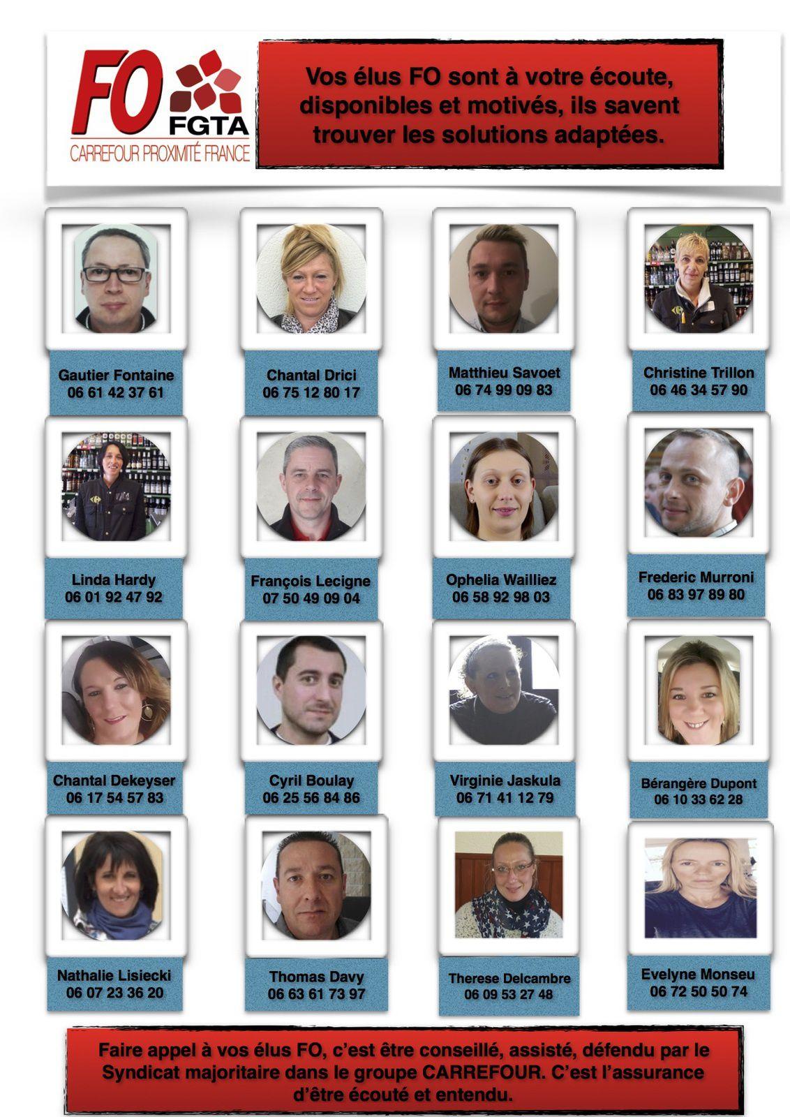 Les élus et délégués FO CPF de la région Nord