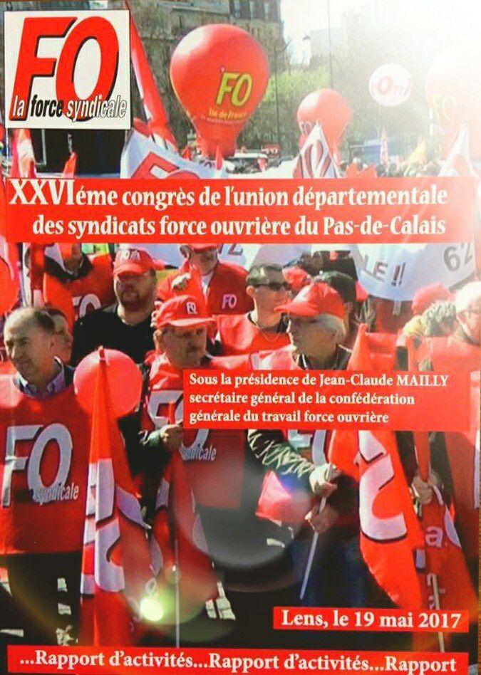 Affiche officielle du congrès FO 62