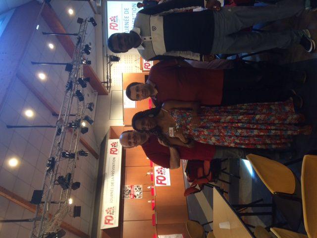Présence d'une délégation de FO CPF: Benoit, Nadine, Cyril, Bruno, Armel