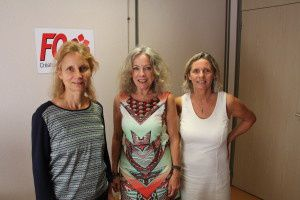 Barbara Bindner, Martine Saint-Cricq et Carole Desiano