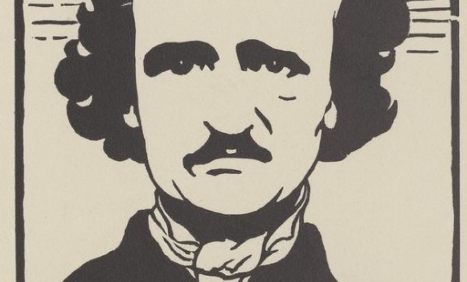 Edgar Allan Poe, par Félix Vallotton &#x3B; 1894 - source Gallica BnF