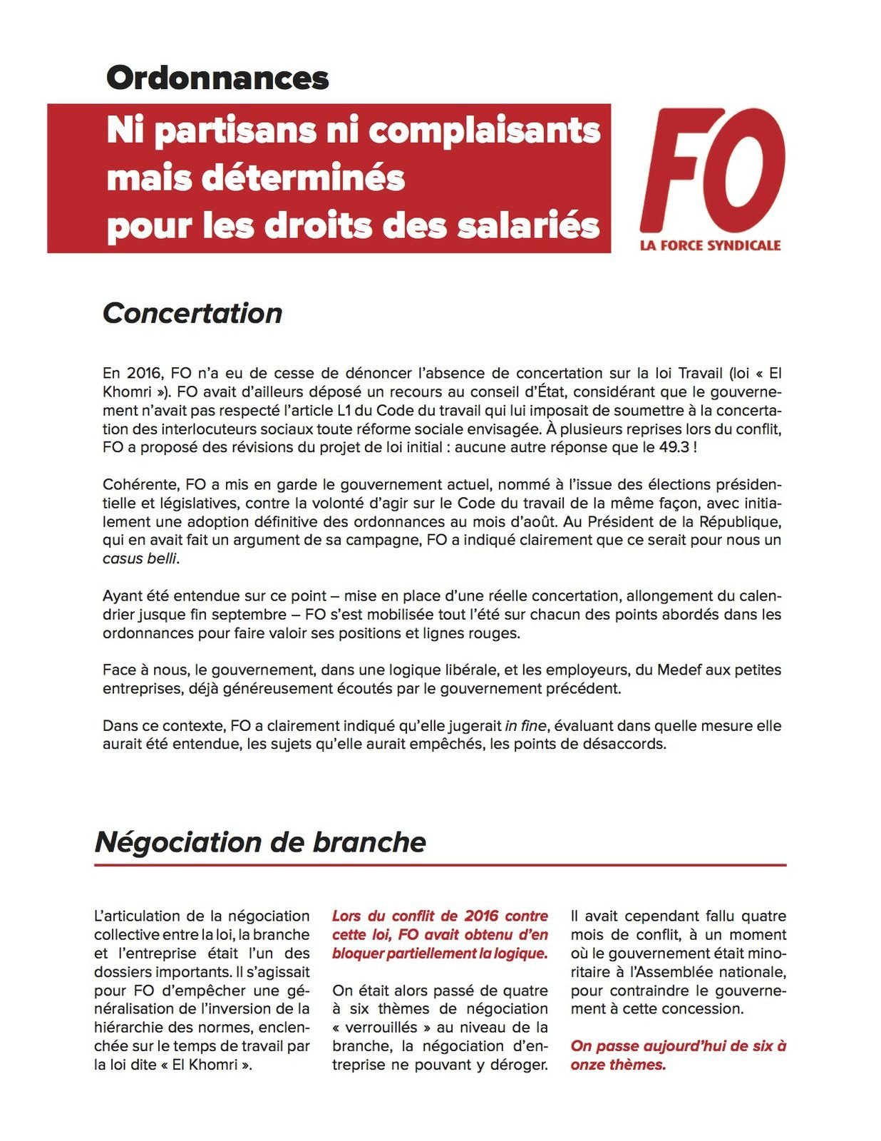 Mobilisation interprofessionnelle le 16 novembre 2017
