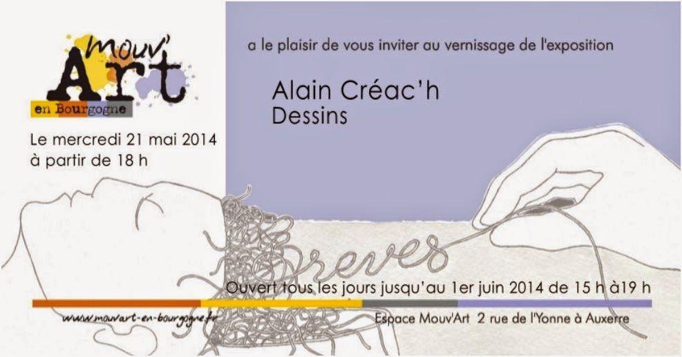 Alain Créac'h à l'Espace Mouv'Art - Du 19 mai au 1er juin 2014