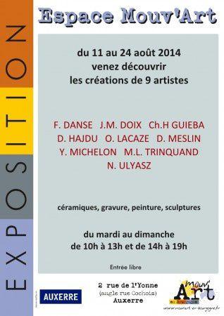 Exposition a l'Espace Mouv'Art - 2 rue de l'Yonne - Auxerre