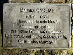 Plaque commémorative (source wikipedia)