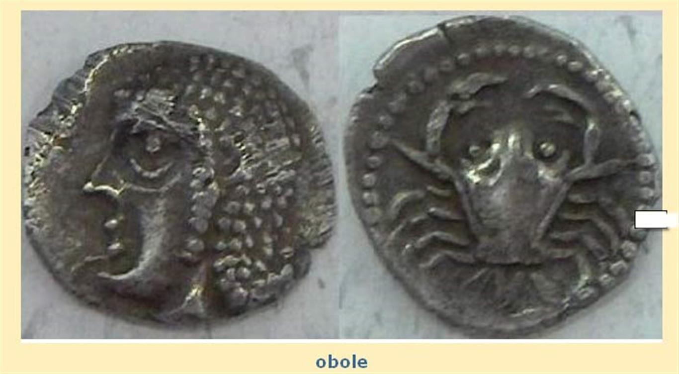La favouille représentée sur une monnaie marseillaise.